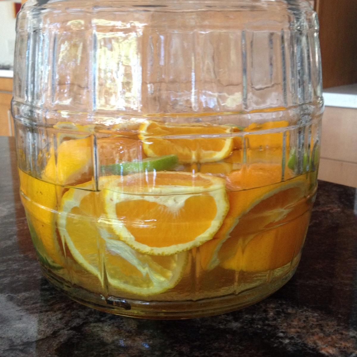 Licor con naranja