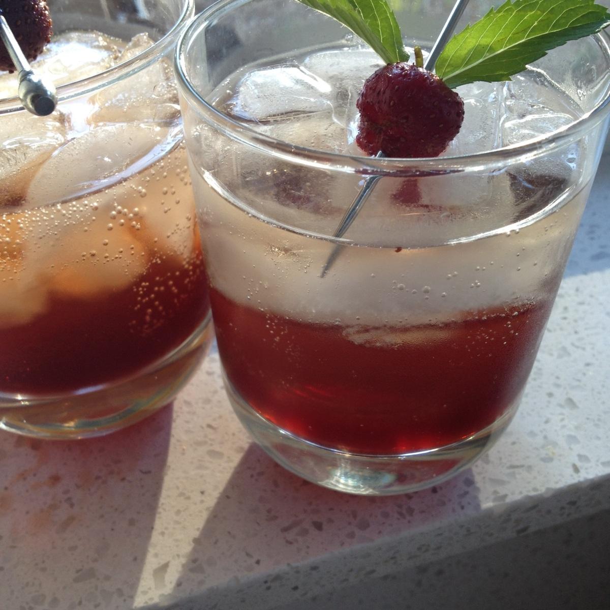 coctel de fresa