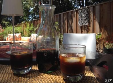 Café al fresco durante el verano.