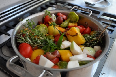 Tomates y hierbas