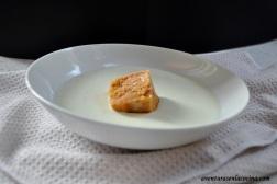 Sorbete de tomate y crema de pepino