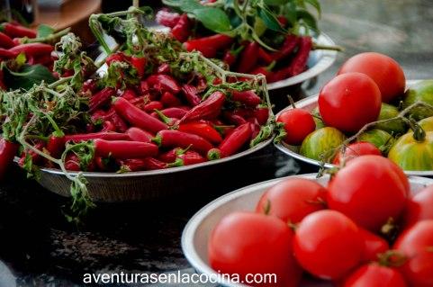 Chiles y tomates
