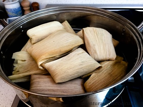 Cocinando los tamales