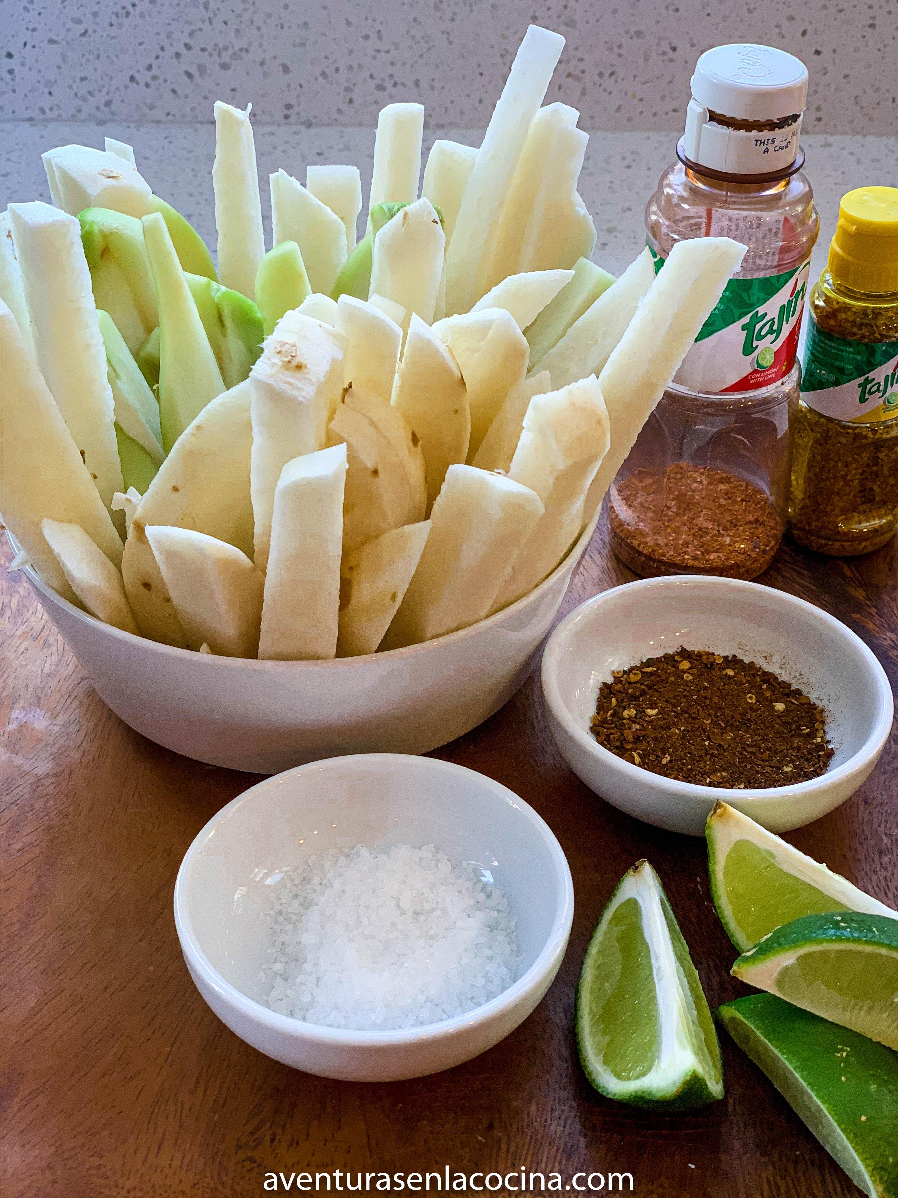 Snack de Jicama y chayote