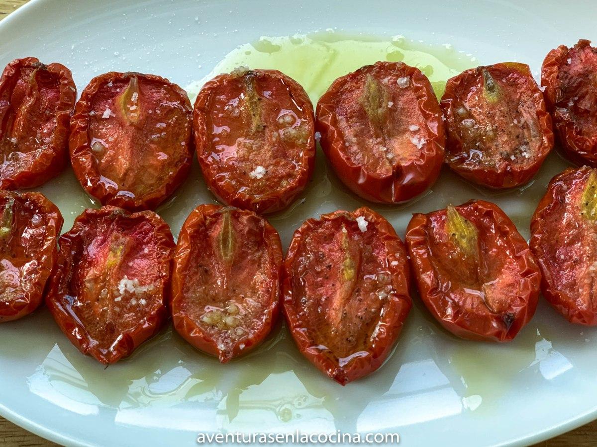 Receta de Tomates semi secos.