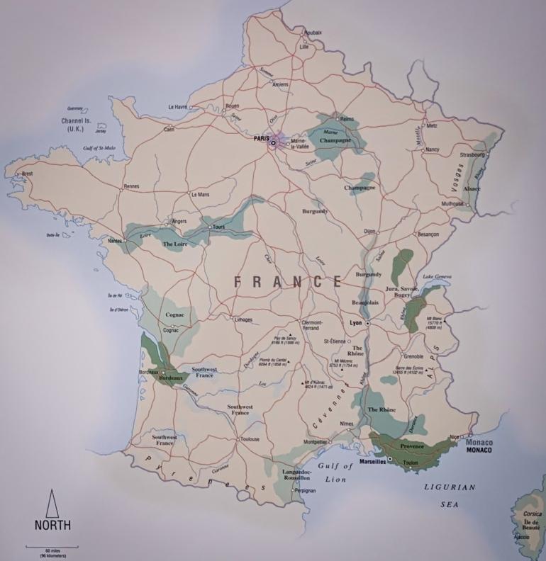 Francia y sus regiones de vino