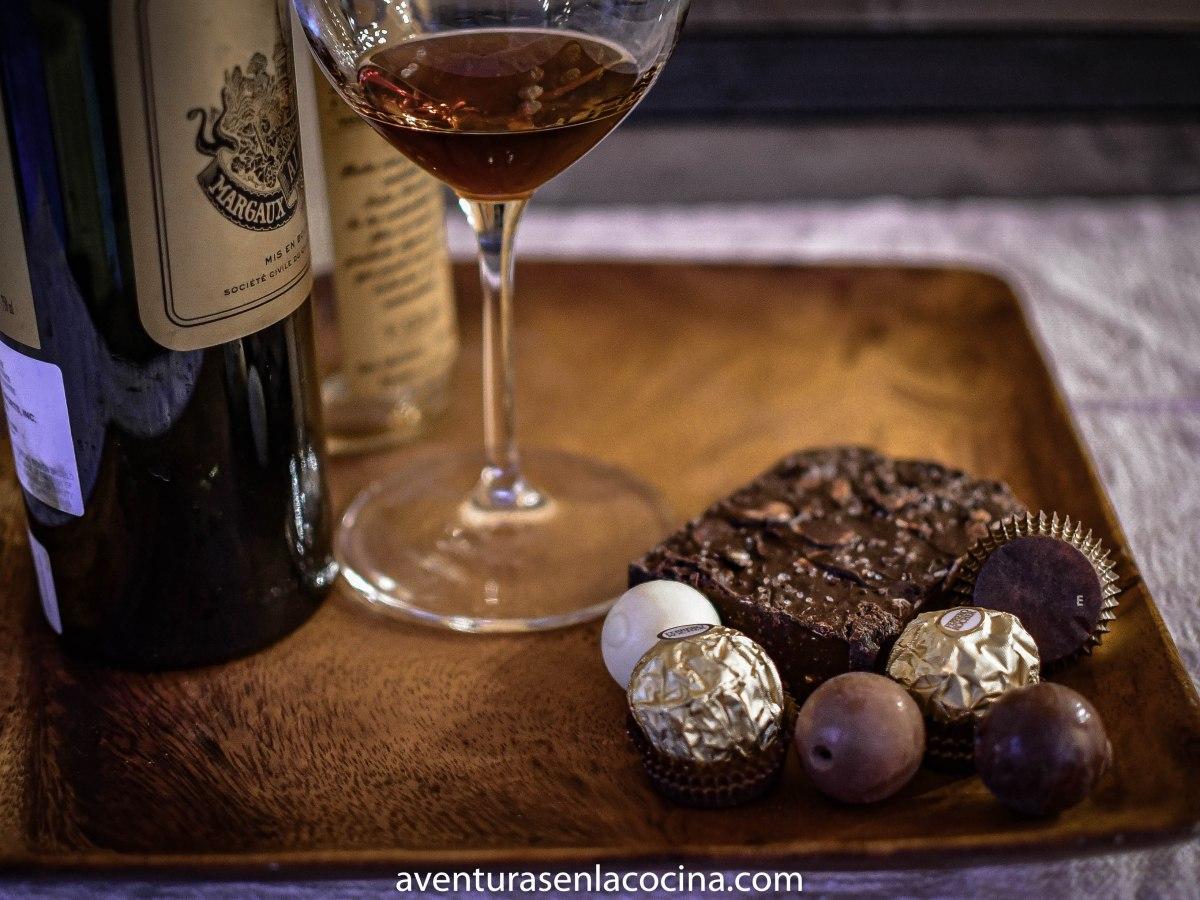 Como maridar chocolate y vino.