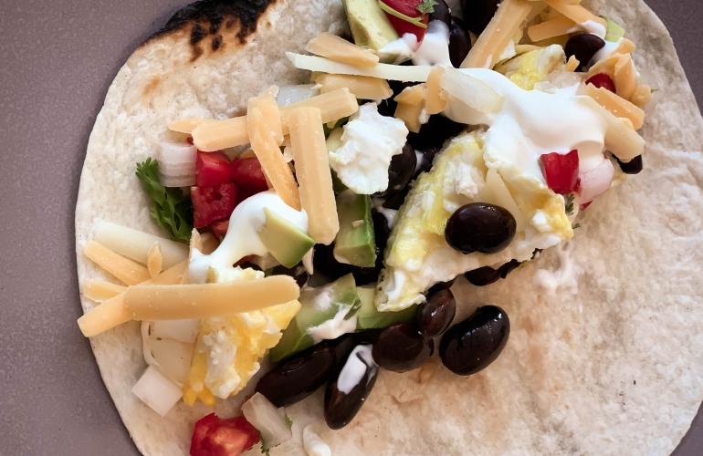 Tacos con huevos