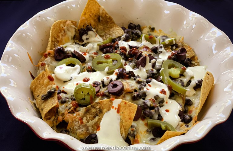 receta de Nachos con chimichurri