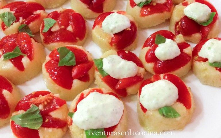 polenta y tomates / aventuras en la cocina