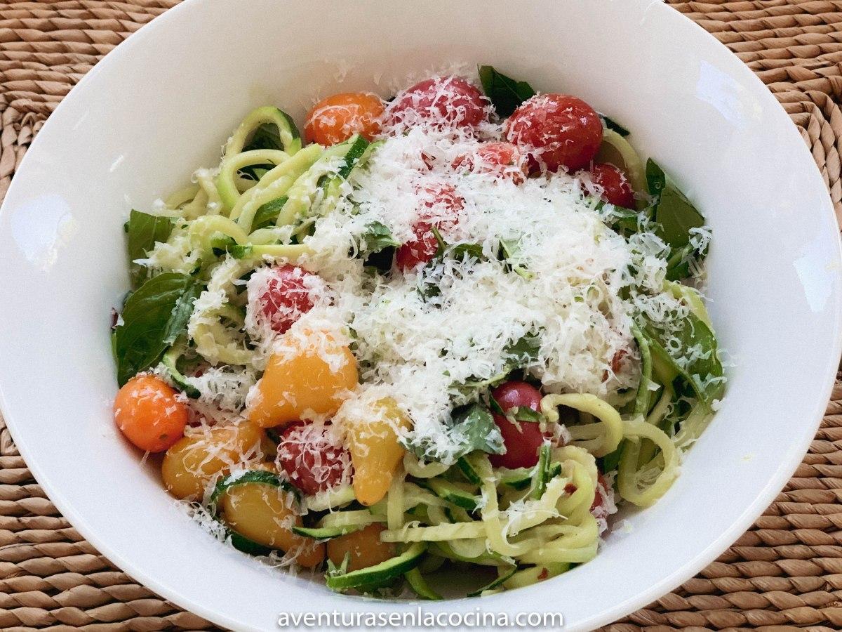Espagueti de calabacín / Aventuras en la cocina