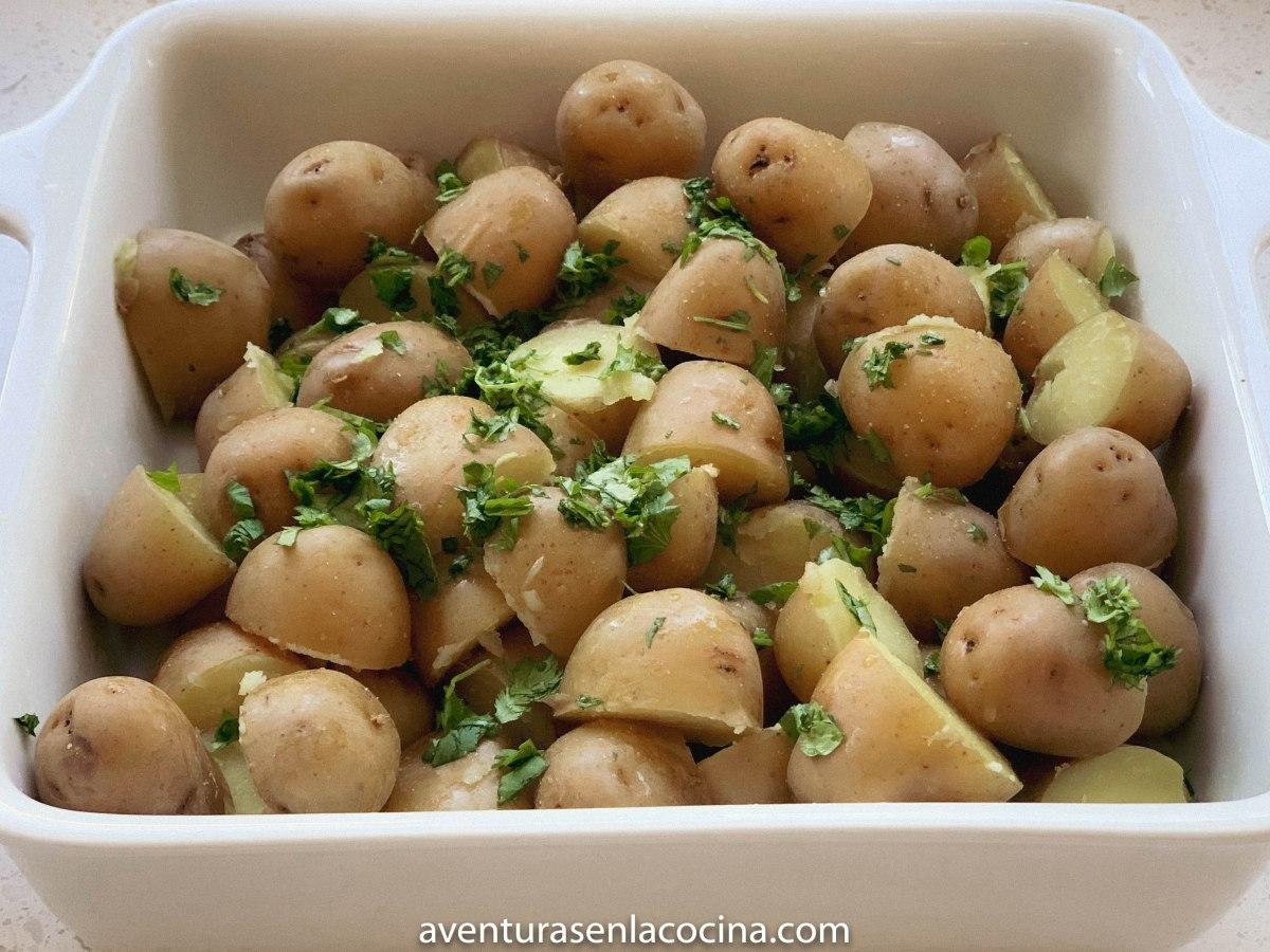 Botana de papas y cilantro / aventuras en la cocina